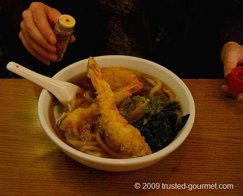 Hot tempura udon