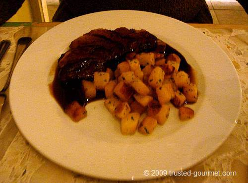 Duck with parsnips