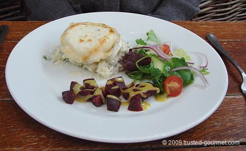The toasted goat's cheese