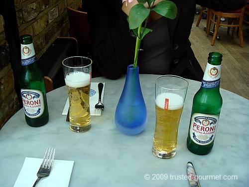 Peroni beer