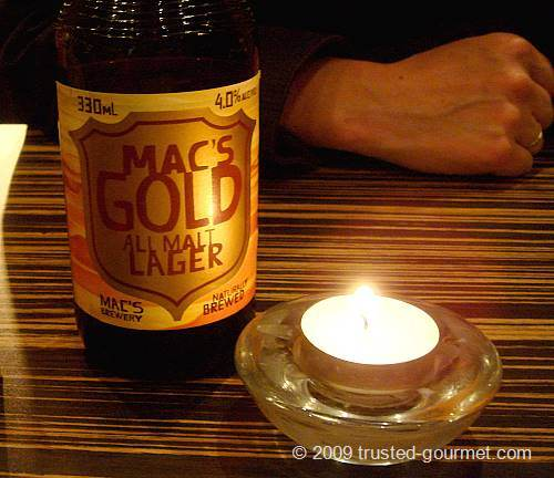 NZ Mac's Gold beer!
