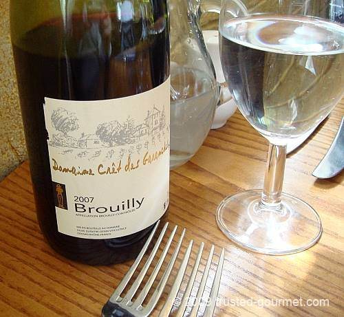 Great bottle of Brouilly!