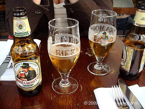 Good Moretti beer