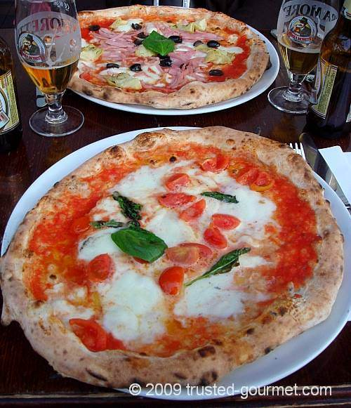The two pizzas