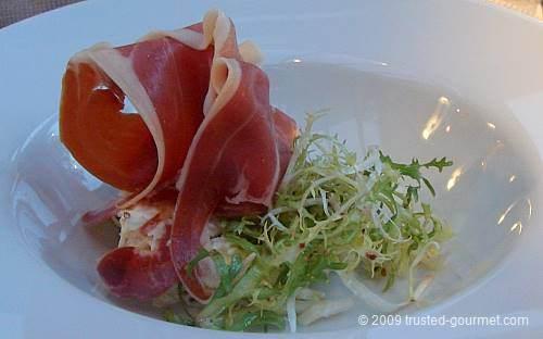 Parma ham with celeriac