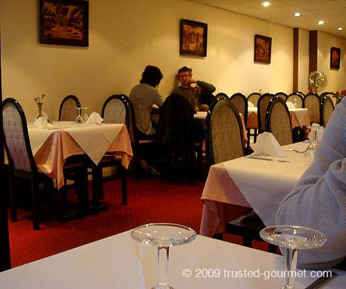 Spacious restaurant