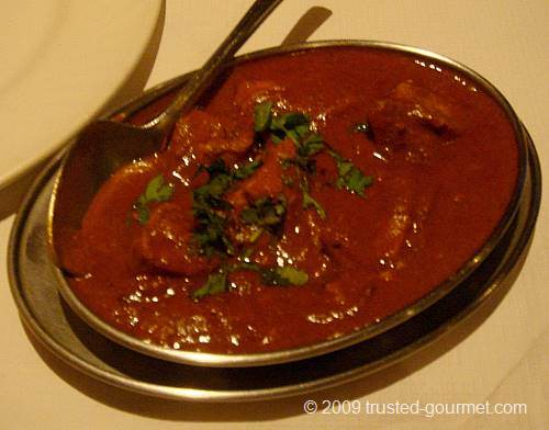 Details of the vindaloo curry