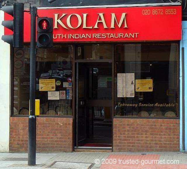 Kolam Indian restaurant