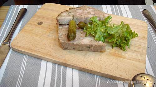 Pork and rabbit terrine