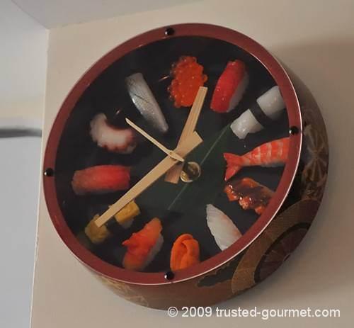 Funny sushi clock