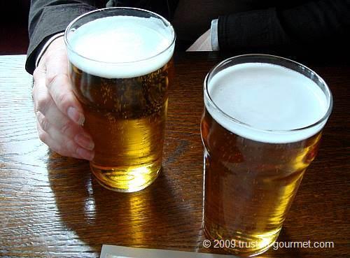 A pint of Budvar beer
