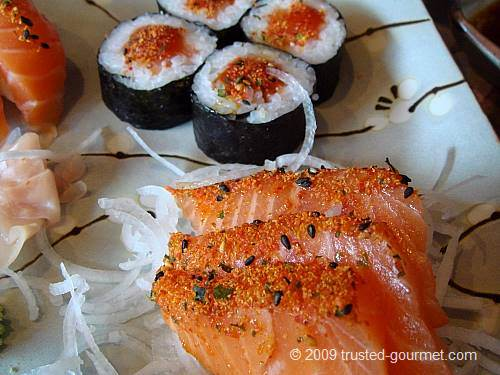Details of the spicy salmon mix