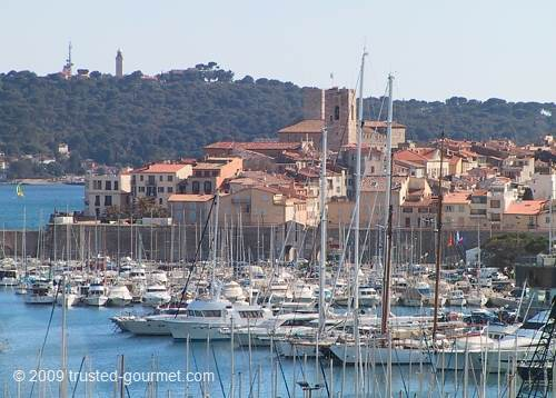The old town of Antibes. You can see the tower of the Musée Picasso.