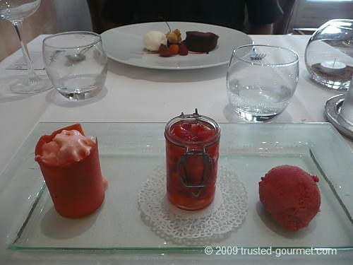 La fraise, en émulsion, en marinade