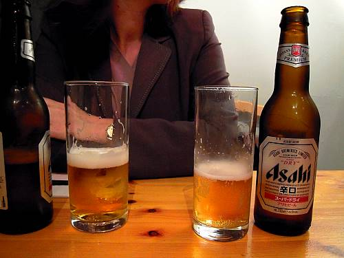 Great cold Asahi beer