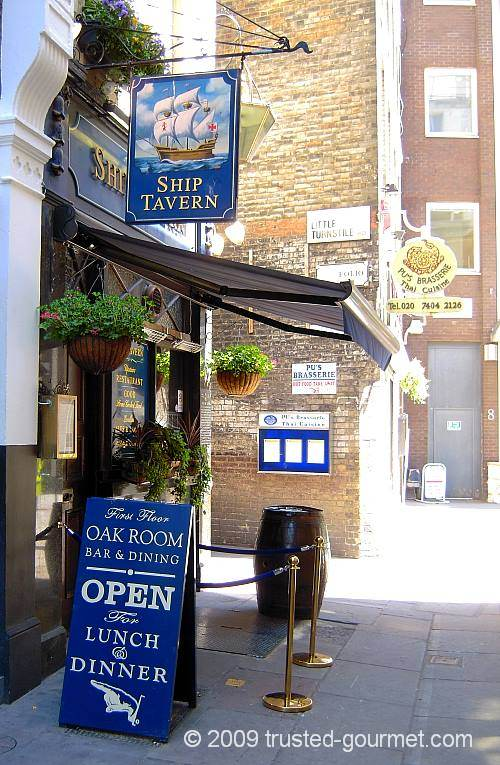 The Ship Tavern in Holborn
