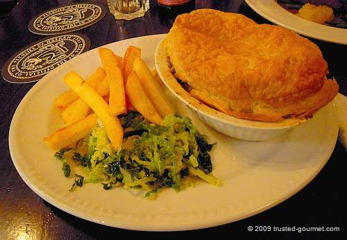 Steak &amp; real ale pie
