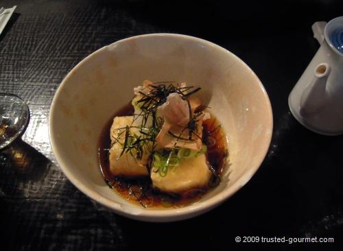 Excellent Agedashi Tofu (£3.80)
