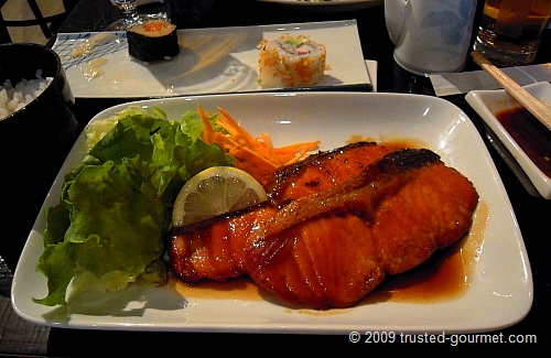 Salmon Teriyaki (£8)