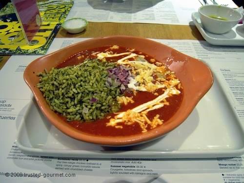 Classic enchilada (£8.50)