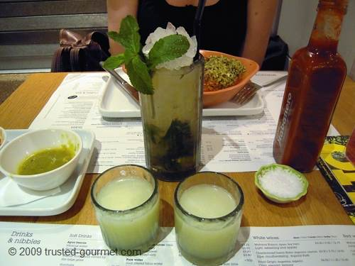 Mojito and Tequila limon
