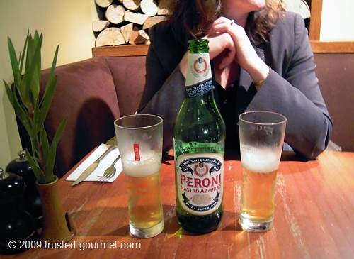 Cold Peroni beer