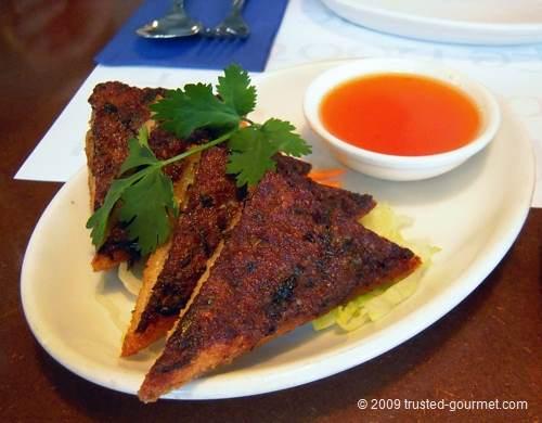 Thai toast with coriander