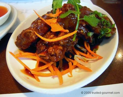 "Dark glazed ""Chinkiang"" ribs"