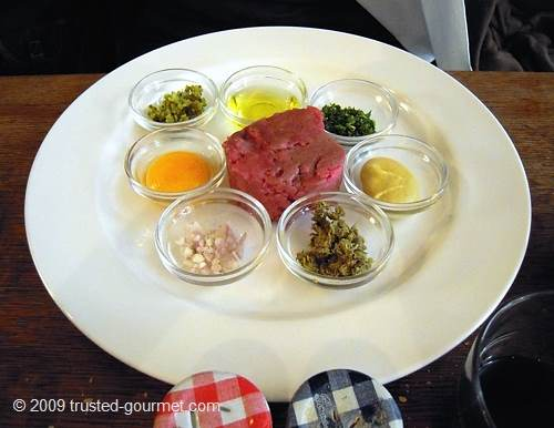 Nicely presented steak tartare