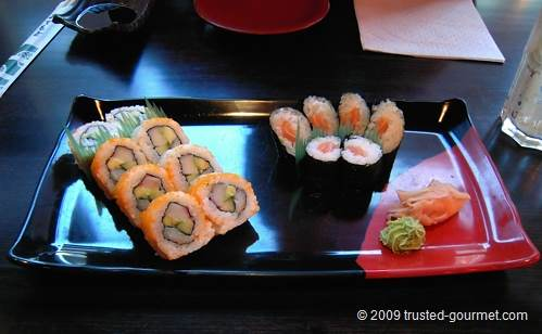 Californian and salmon rolls