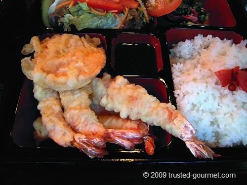 Details of the tempura bento