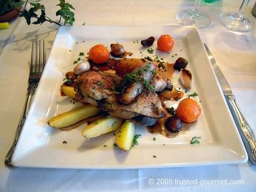 Poussin with endives &amp; garlic