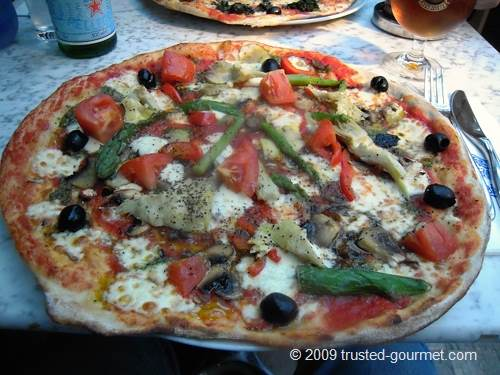 Pizza Giardiniera on a Romana base
