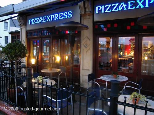 Pizza express wandsworth common 198 trinity road london for Cafe du jardin restaurant covent garden