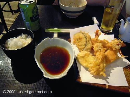 Prawn Tempura (deep fried prawn & vegetable tempura)