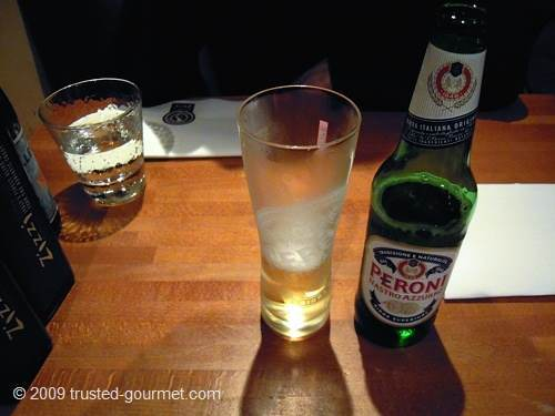 Nice cold Peroni beer