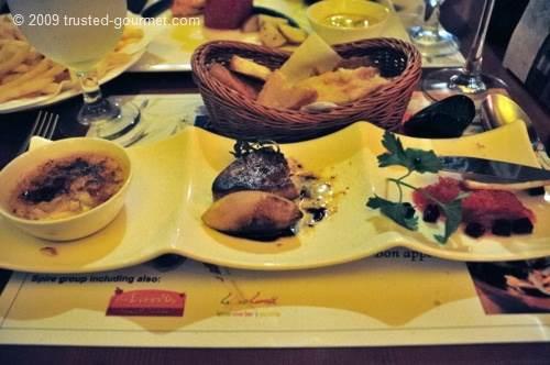 Trio au foie gras