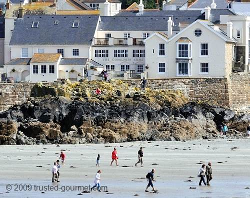 The Godolphin Arms. Vue from St Michael's Mount.