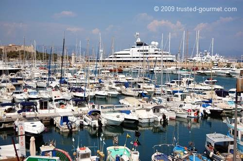 The marina in Antibes