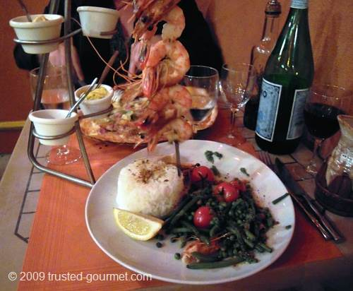 Brochette de gambas