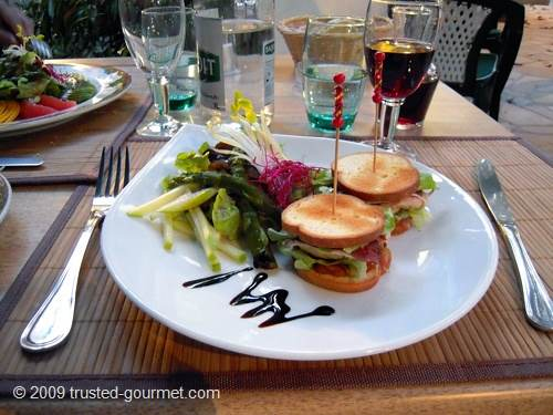 Foie gras et magret fumé façon club