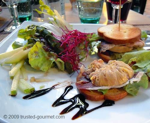 It was a delicious sandwich of smoked duck and foie gras