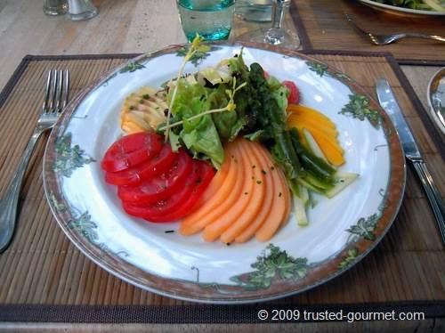 Eventail de fruits et légumes