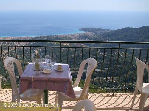 View over the Italian coast to Cap Saint Martin in France