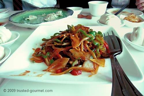Stir fried vegetables & mantou