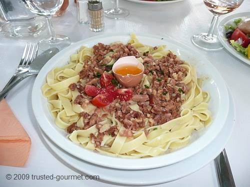 Tagliatelles Carbonara